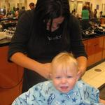 First hair cut - August 2013