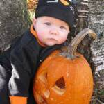 Emily's first pumpkin - October 31