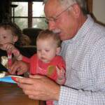 Grandpa helping me read my birthday card - April 26