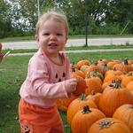 Picking out our pumpkins - October 3