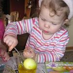 Coloring Easter eggs - April 3rd