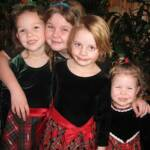 With our cousins, Berit and Lily - December 25th 2010