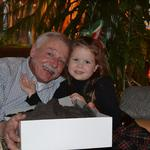 Thanking Grandpa Rich for her Christmas presents - December 22nd