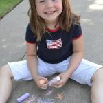Showing off her patriotism - July 4th 2013